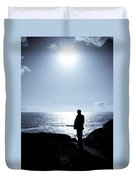 Man And  The Sea Duvet Cover