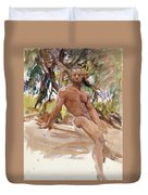 Man And Trees. Florida Duvet Cover