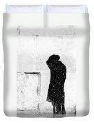 Man At Western Wall Duvet Cover