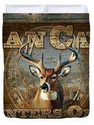 Man Cave Deer Duvet Cover by JQ Licensing
