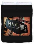 Man Code Duvet Cover