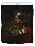 Man In Armor Duvet Cover