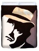 Man In Hat Duvet Cover