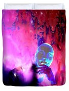 Man In Space Pondering Thoughts Duvet Cover