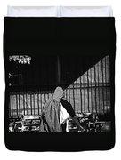 Man In The Street Duvet Cover