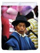 Man Of Cotacachi Ecuador Duvet Cover