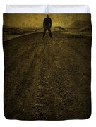 Man On A Mission Duvet Cover by Evelina Kremsdorf