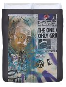 Man Portrait And Collage By C215 Duvet Cover