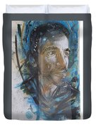 Man Portrait By C215 Duvet Cover