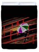 Man Under Umbrella Duvet Cover