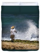 Man Versus The Sea Duvet Cover