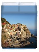 Manarola At Dusk Duvet Cover