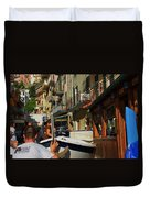 Manarola  Street - Cinque Terre Duvet Cover
