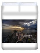 Manarola Sunset Storm Duvet Cover