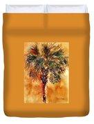 Manasota Key Palm 1 Duvet Cover