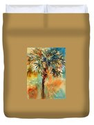 Manasota Key Palm 2 Duvet Cover