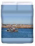 Manasquan Inlet Coast Guard Duvet Cover