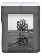 Manassas Battlefield Cannon And House Duvet Cover