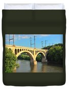 Manayunk Stone Arch Bridge Duvet Cover