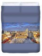 Manchester Skyline Panoramic Hdr Duvet Cover