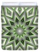 Mandala 107 Green Duvet Cover