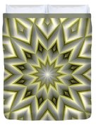 Mandala 107 Yellow Duvet Cover