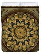 Mandala Earth Shell Sp Duvet Cover by Bedros Awak