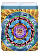 Mandala Wormhole 101 Duvet Cover by Derek Gedney