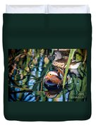 Mandarin Duck Reflections Duvet Cover