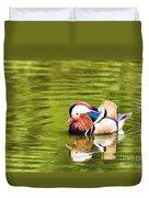Mandarin Reflection Duvet Cover