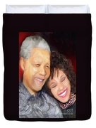Mandela And Whitney Duvet Cover