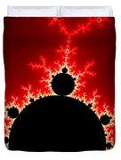 Mandelbrot Fractal Flash Power Red And Black Duvet Cover