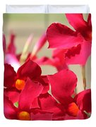 Mandevilla Named Sun Parasol Crimson Duvet Cover
