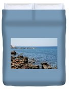 Mandraki Coastline Nisyros Duvet Cover