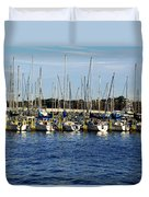 Mandarin Park Boats On Julington Creek Duvet Cover