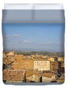 Mangia Tower Piazzo Del Campo  Siena  Duvet Cover