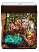 Mangled Whistler Train Wreck Box Car Duvet Cover
