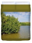 Mangrove Fores Duvet Cover by Carol Ailles