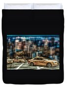 Manhattan - Yellow Cabs - Future Duvet Cover