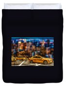 Manhattan - Yellow Cabs I Duvet Cover by Hannes Cmarits