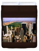 Manhattan And Central Park Duvet Cover