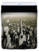 Manhattan And Chrysler Building II Duvet Cover