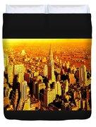 Manhattan And Chrysler Building Duvet Cover