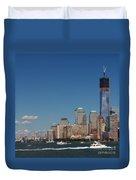 Manhattan Battery Park Skyline Duvet Cover