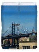 Manhattan Bridge From Brooklyn Duvet Cover