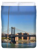 Manhattan Bridge Nyc Duvet Cover