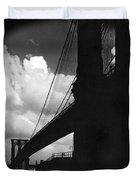 Manhattan Brooklyn Bridge View Duvet Cover
