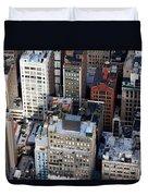Manhattan From Above Duvet Cover