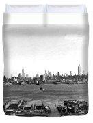 Manhattan From New Jersey Duvet Cover