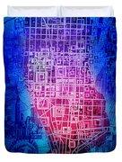 Manhattan Map Abstract 5 Duvet Cover
